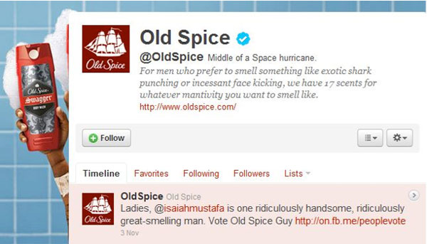 old spice marketing Need a way to change the way consumers view your product looking at successful marketing campaigns of the past is a great place to start one in.