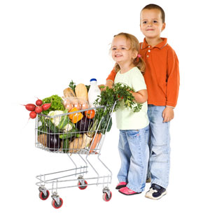 Despite Parents' Efforts Kids Control the Shopping Cart