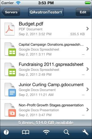 Google Docs Gets Mobile Access App