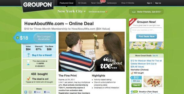 Groupon buys April Fools' Day