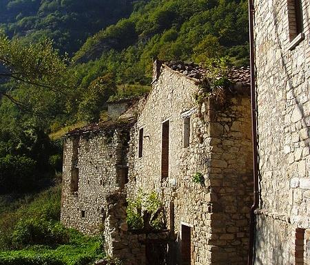 Italian village of Valle Piola