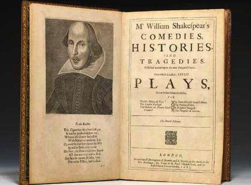 First-edition William Shakespeare book