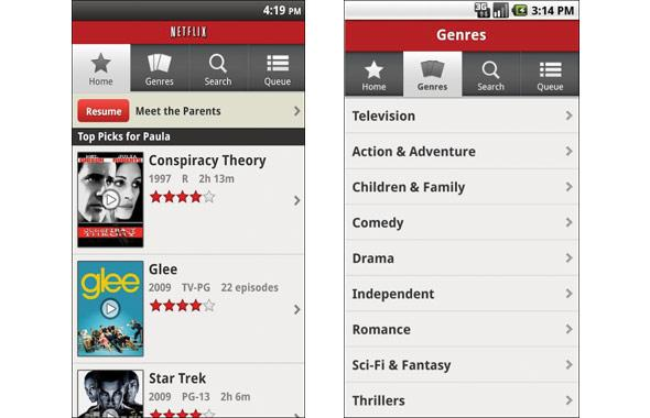 Netflix (Free app, monthly plans from $7.99/month)