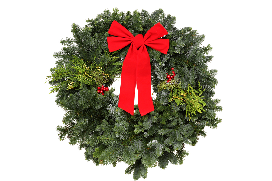 Wreaths and floral arrangements