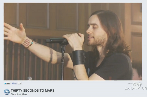 A New Webcasting Experience: Jared Leto Launches Live Streaming Service