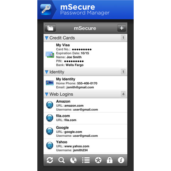 mSecure ($9.99)