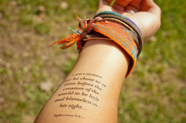 christian temporary tattoos designed with spiritual skin