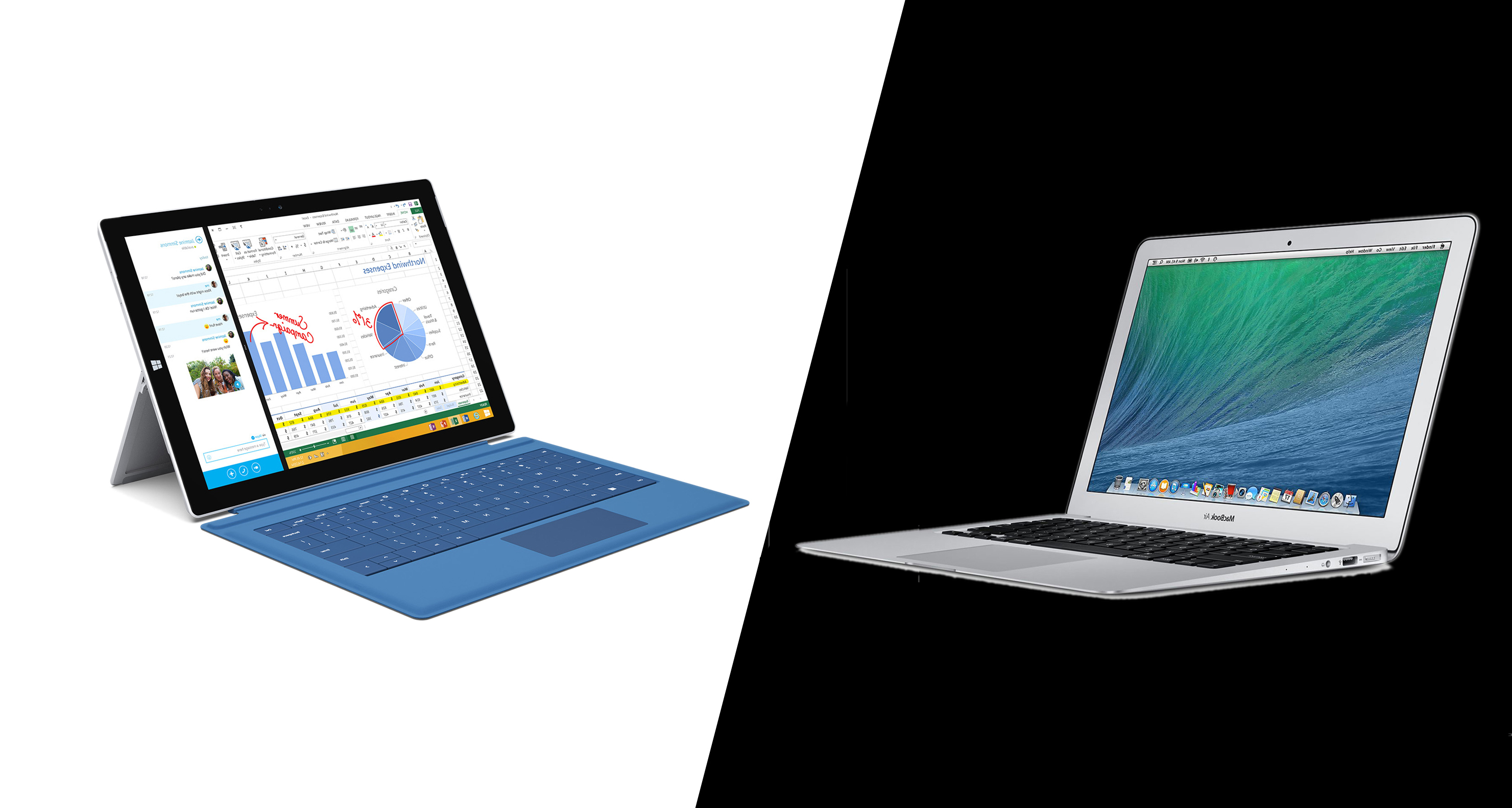 Surface Pro 3 vs. MacBook Air (2014): Which is Better for Business?