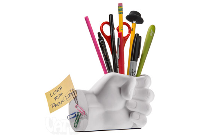 Hand-shaped office organizer
