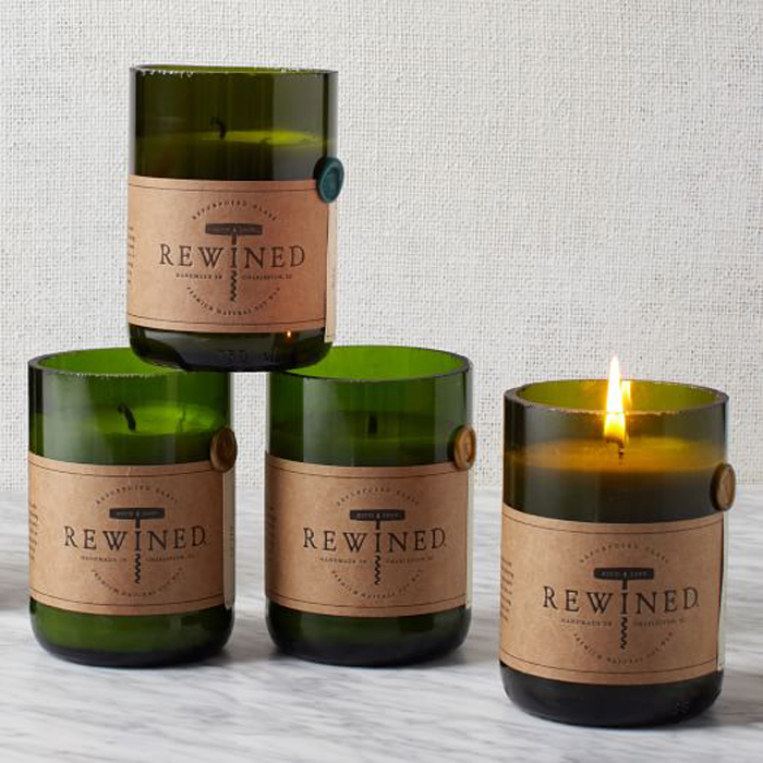 Wine-scented candle
