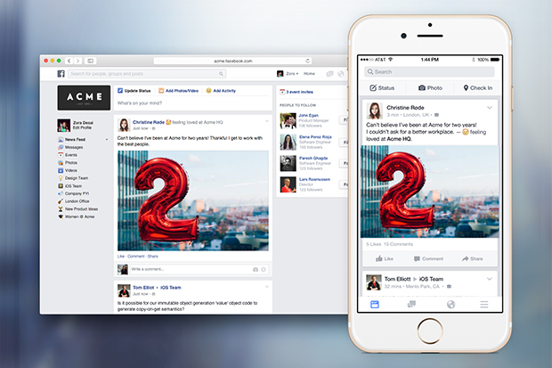 Facebook at Work Brings Social Network to Businesses