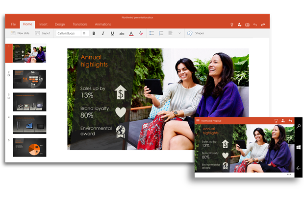 MS Office Becomes Universal Office Apps in Windows 10