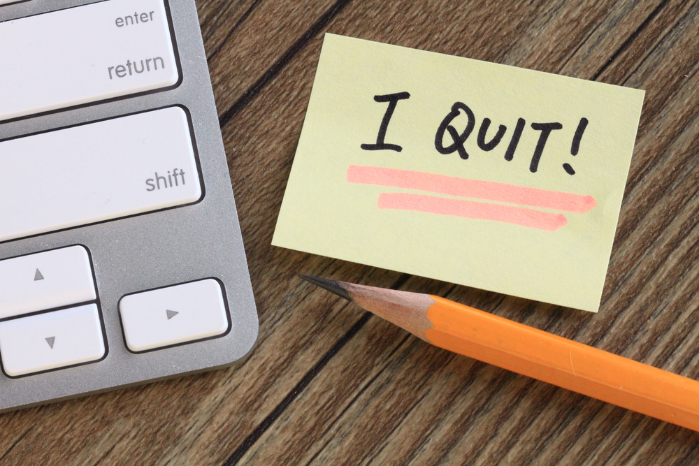 resignation is notice that you are quitting your job