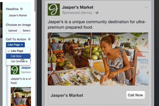 Facebook Adds 'Call Now' Button to Local Ads