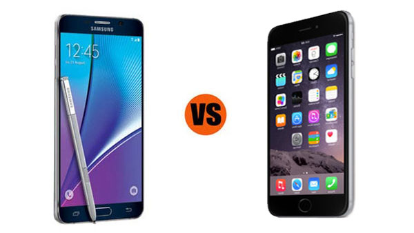 Samsung Galaxy Note 5 vs. iPhone 6 Plus: Which is Better for Business?