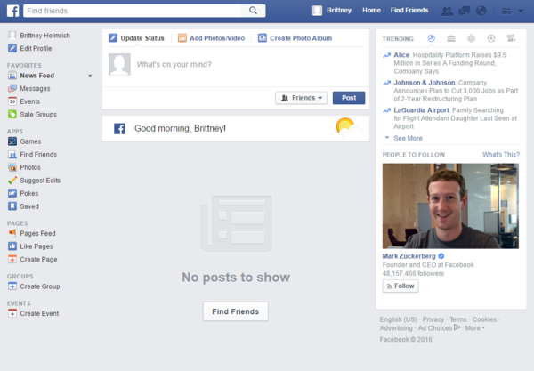 Facebook home page empty facebook for business everything you need to