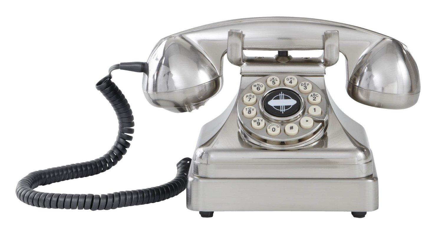 Vintage-inspired desk phone