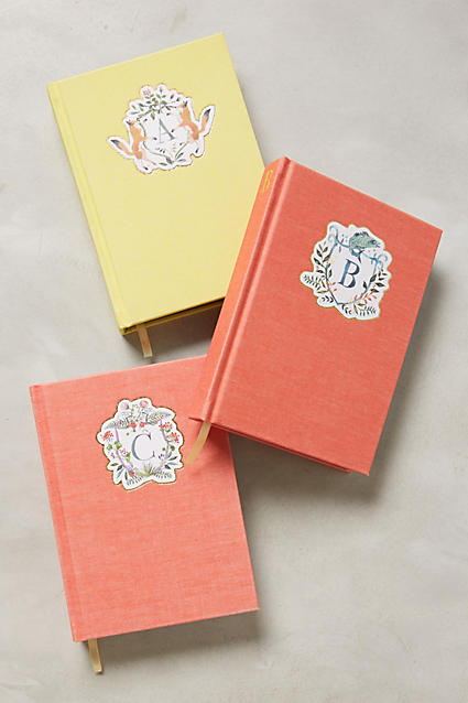 Monogram crest journal