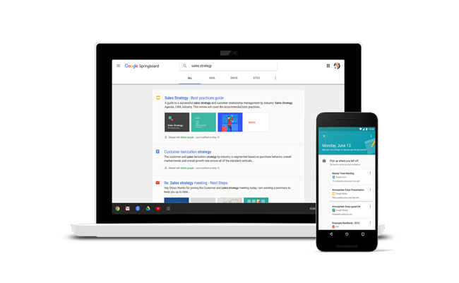 Google Launches Springboard and Redesigned Sites
