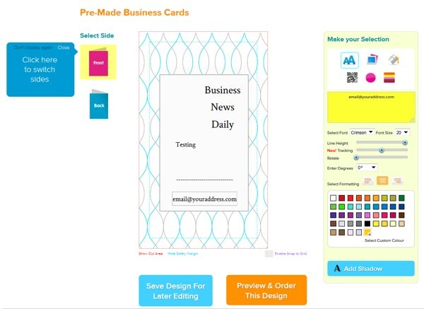 The Best line Business Card Printing Services