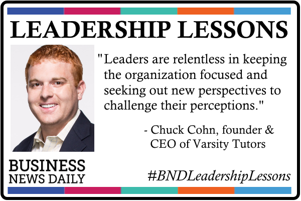 Leadership Lessons: Stay Focused and Challenge Your Perceptions