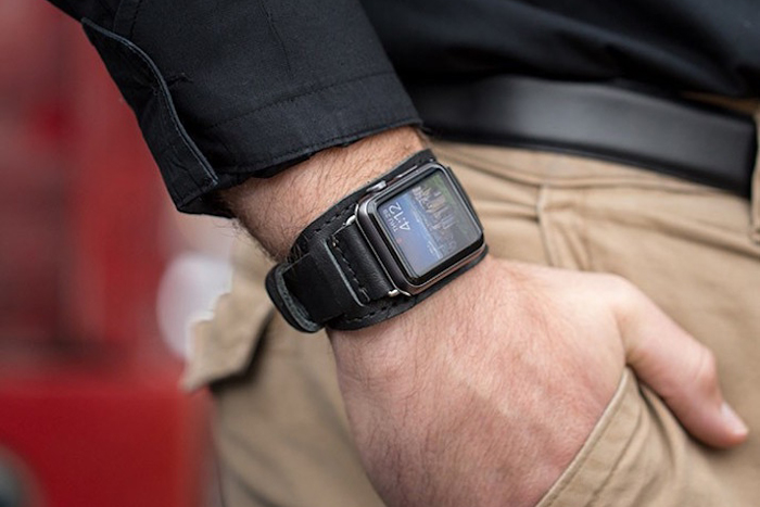 Lowry leather cuff for Apple Watch by Pad & Quill, $130