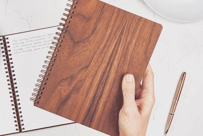 The Wood Notebook by Pacific & West, $25