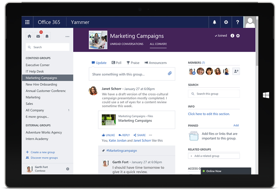 Yammer Makes Collaboration Easier with Office 365 Integration