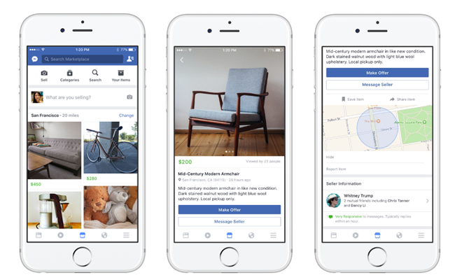 Facebook Marketplace Brings Craigslist-Like Service to Mobile Users