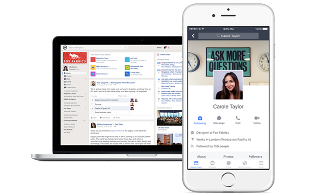 'Workplace' Lets Businesses Launch Their Own Facebook at Work