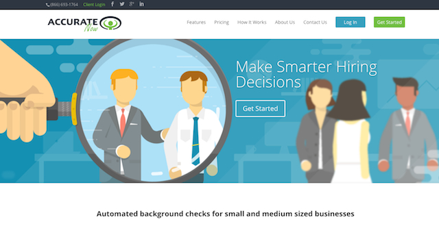 AccurateNow Review: Best Background Check Service for Very Small Business