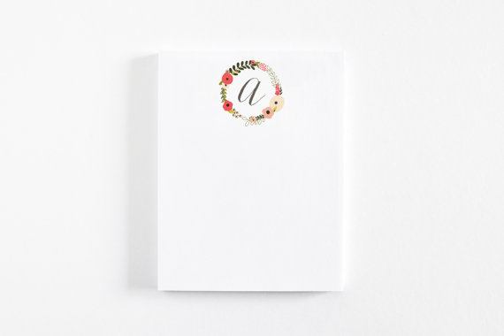 Personalized notepad, $8.50