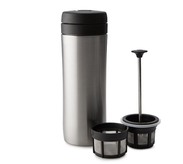 On-the-go coffee press, $35