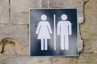 bathroom sign men women