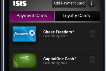 Screenshot of Isis Mobile Wallet