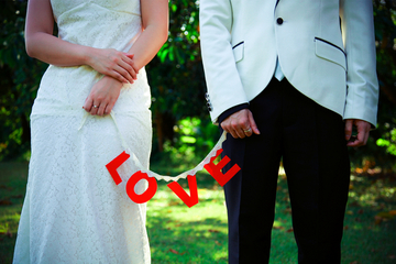 married, love, wedding