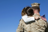 Nearly two-thirds (64 percent) of returning troops experience a difficult transition to civilian life