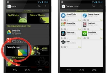Businesses can distribute internal Android apps to employees through a Google Play Store private channel