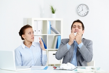 Most employees come to work when they&apos;re sick