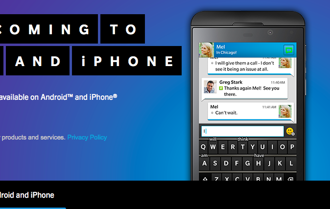 BlackBerry Messenger for iPhone & Android: Better For Your ...