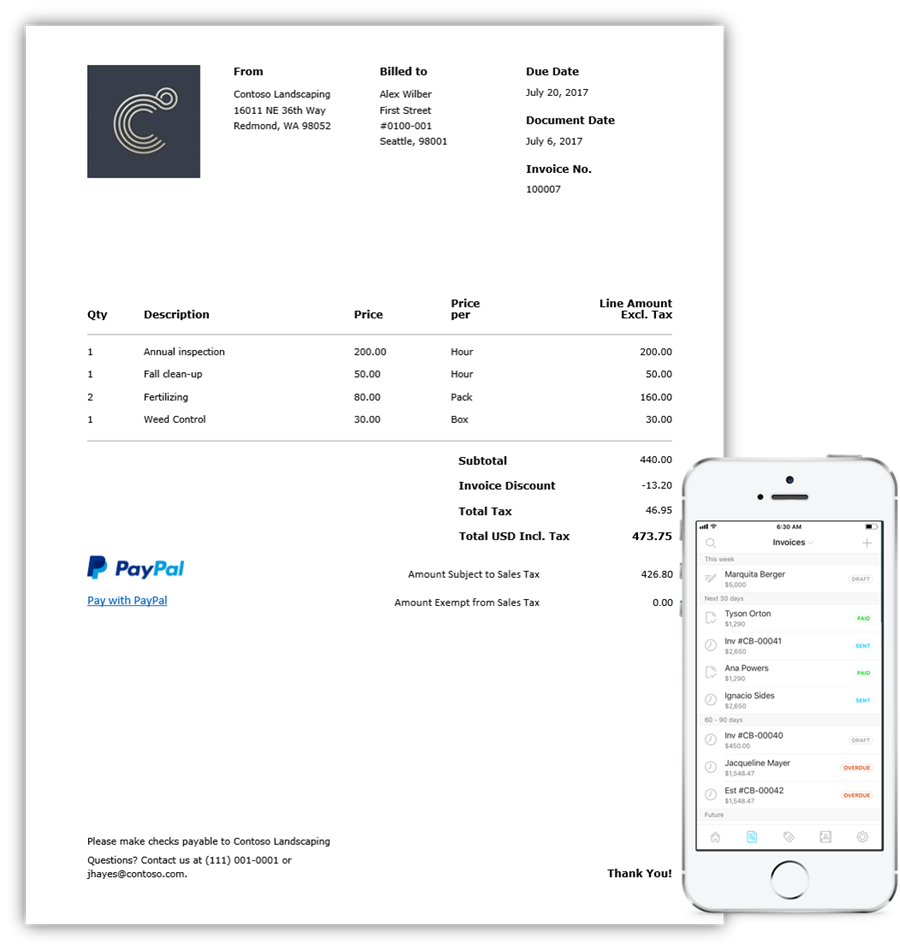 Microsoft Invoicing Could Be The Small Business Tool You Need - How to create an invoice on paypal mobile for service business